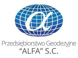 """logo """"ALFA"""" s.c. Przedsiębiorstwo Geodezyjne"""