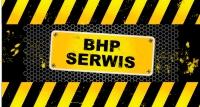 logo BHP SERWIS - artykuły BHP, odzież robocza, obuwie robocze, rękawice robocze, apteczki samochodowe, kamizelki ostrzegawcze, lampy ostrzegawcze, gaśnice, środki czystości, hełmy, nakrycia głowy,