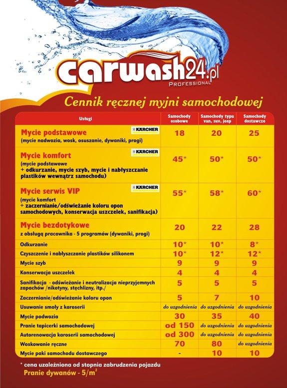 carwash24.pl - mycie samochodów osobowych, dostawczych, konserwacja, odkurzanie