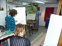 Studio - Galeria Maria Anna Pilszak - obrazy, ikony, anioły, plastyczne kursy przygotowawcze