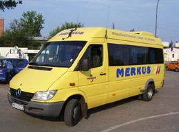 """""""MERKUS"""" - przewozy osobowe, transport krajowy, zagraniczny"""