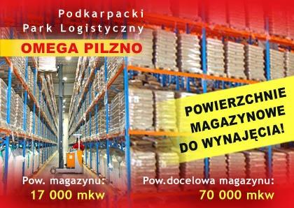 PODKARPACKI PARK LOGISTYCZNY OMEGA PILZNO - magazynowanie, powierzchnia magazynowa, magazynowanie towarów