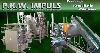 P.K.W. Impuls – Maszyny dla przemysłu spożywczego. Maszyny iurządzenia dozujące pakujące: kapustę kiszoną, ogórki kwaszone, ogórki kiszone, surówki. Maszyny dozujące: farsz, flaki, gulasz, przeciery. Krajalnice. Sterylizatory orzechów, bakalii.