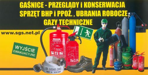 F.H.U.P. SGS - sprzęt bhp i ppoż, przeglądy i konserwacja gaśnic, ubrania robocze