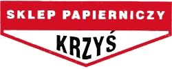 """logo SKLEP PAPIERNICZY """"KRZYŚ"""" artykuły papiernicze, artykuły biurowe, artykuły szkolne, zabawki, plecaki szkolne, artykuły kreślarskie"""