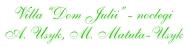 logo Villa Dom Julii - pokoje hotelowe, restauracja