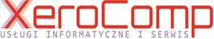 logo XeroComp – serwis kserokopiarek, drukarek, komputerów. Sprzedaż poleasingowych oraz nowych kserokopiarek, drukarek, komputerów. Obsługa informatyczna dla firm