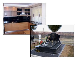 ZAKO - Zaczernie k/Rzeszowa - kominki, marmur  granit  piaskowiec onyx - nagrobki  blaty kuchenne  schody